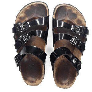 Birkenstock Birki's Black Patent Leather Sandals